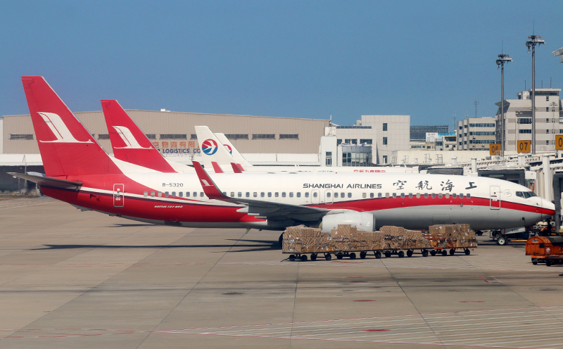 Shanghai Airlines airplanes