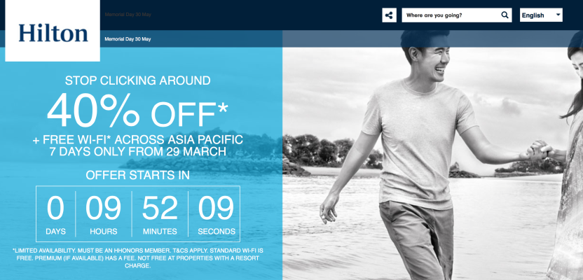 Hilton Asia Pacific flash sale Spring 2016