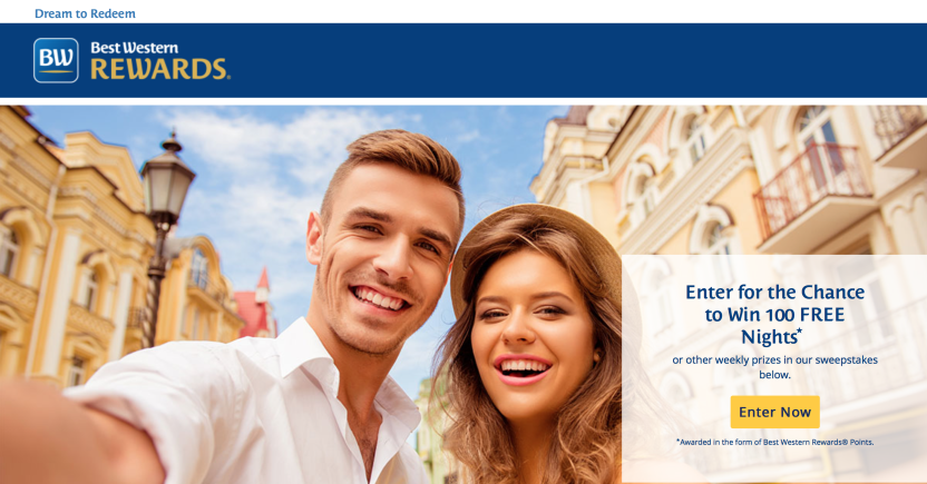 Best Western Dream to Redeem Sweepstakes 2016
