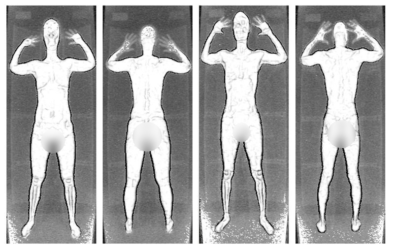Naked scanned full body images
