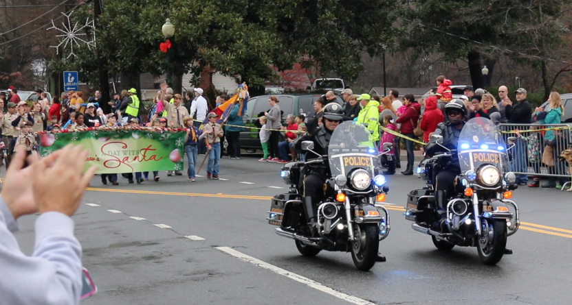 Police motorcycles Kennesaw parade