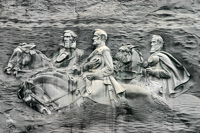 Stone Mountain Park carving