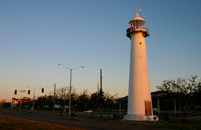Biloxi Lighthouse sunset