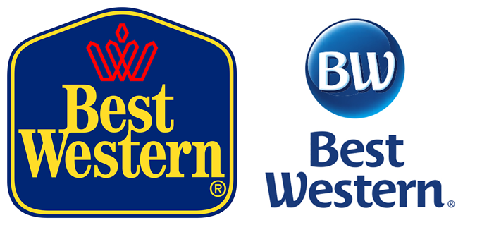 The Best Western logo has changed: the old one — in use since 1993 — is shown on the left; while the new ones shown on the right. Click on the graphic for a larger view of the logos. Source: Best Western Hotels & Resorts.