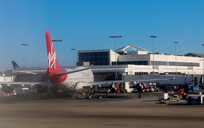 Los Angeles International Airport gates Virgin
