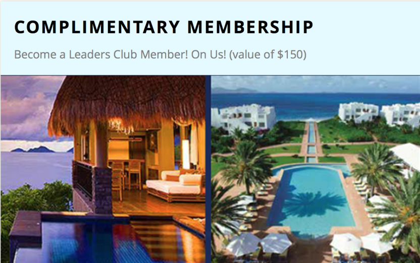 Leading Hotels of the World complimentary membership 2016