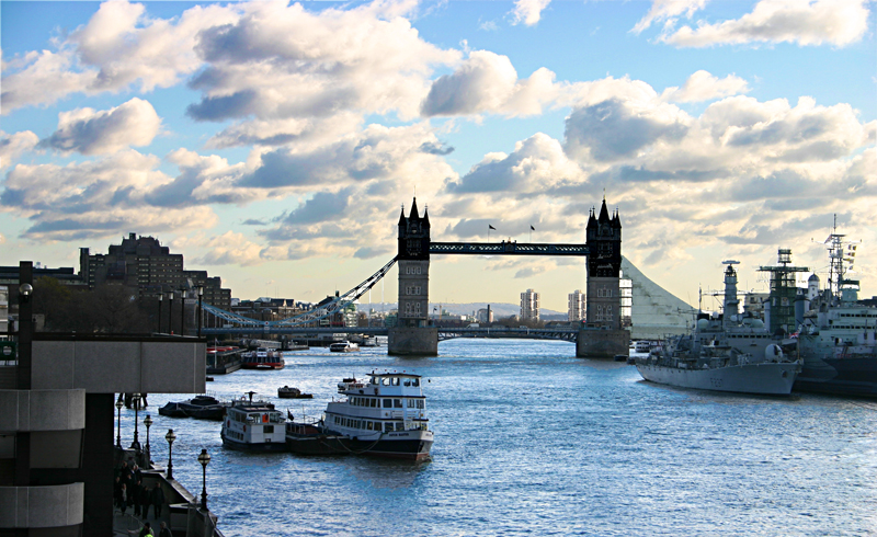 Tower Bridge and the Thames River London