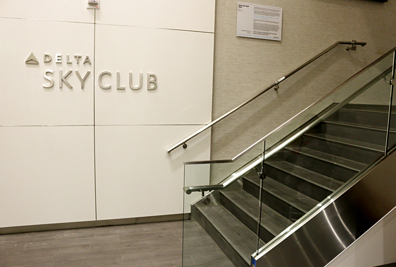 Delta Air Lines Sky Club Concourse B Atlanta airport