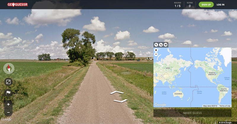 GeoGuessr Google Maps game