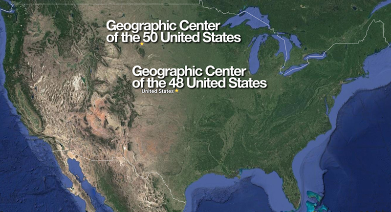 Geographic centers of the United States
