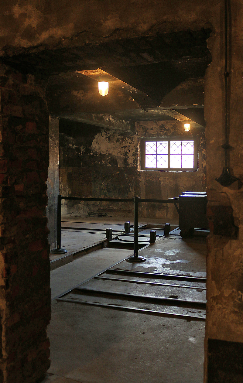 Gas Chamber I And Incinerator Room At Auschwitz The