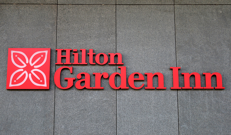 Hilton Garden Inn logo at Krakow Airport