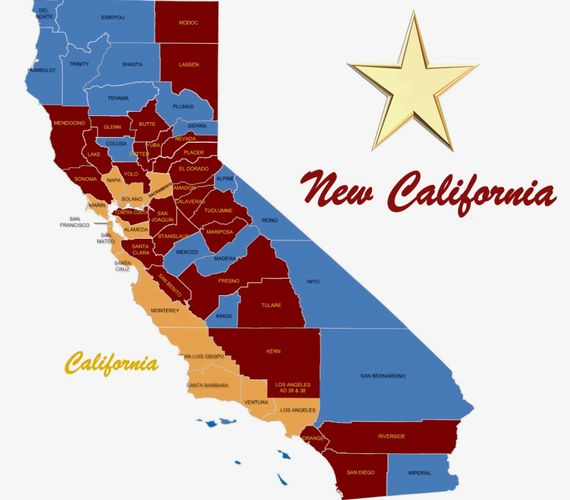 map new California