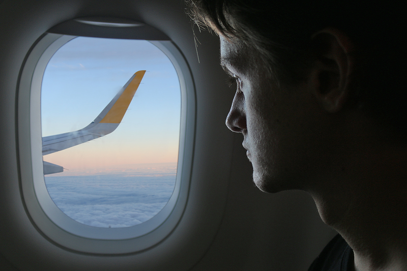 Vueling Airlines silhouette window