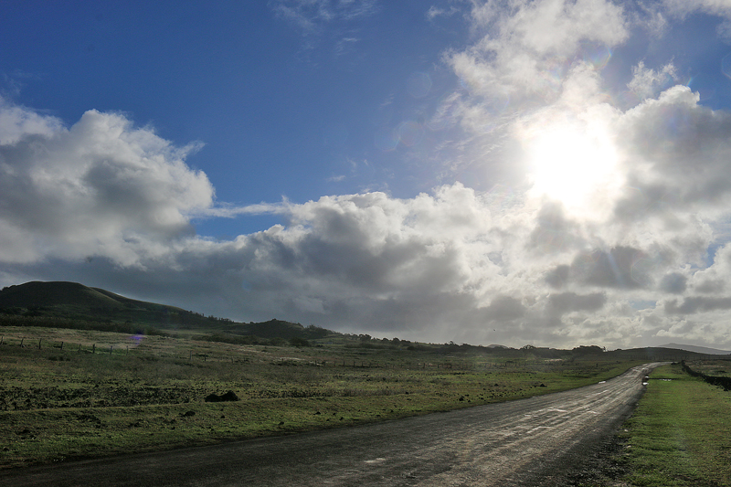 Easter Island road driving